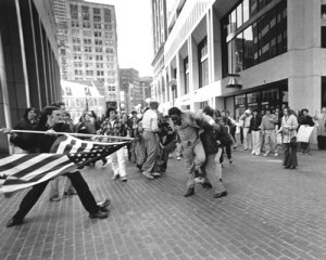 Landsmark getting beaten by Boston Bigots in the 1970's