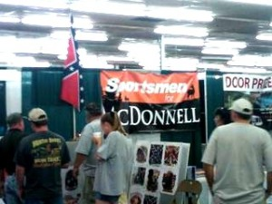 Virginia Republican Gubernatorial candidate Bob McDonnell's proudly displays racist confederate flag