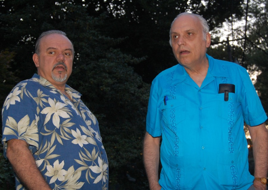Host Peter Papaheraklis and organizer Sidney Secular