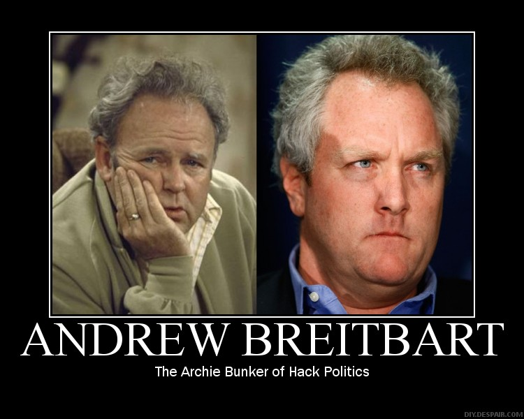 Andrew Breitbart Gets Support From Racist Scum While His Punk O