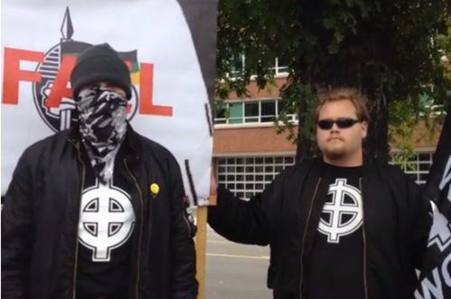 """Jascha Manny (left) at """"Project Unite Red October"""" event Portland, OR October 12th 2013"""