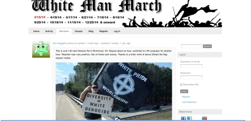 Ron Dogget's White Man March