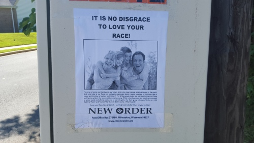 Flyer found in Arlington Virginia on August 25, 2015
